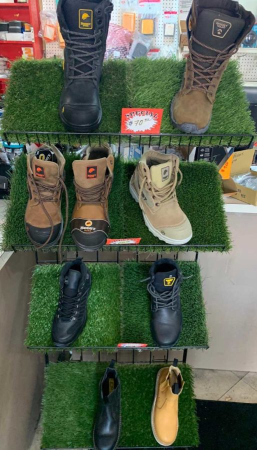 Work Boot Sale at Spring Valley Lawnmower Shop